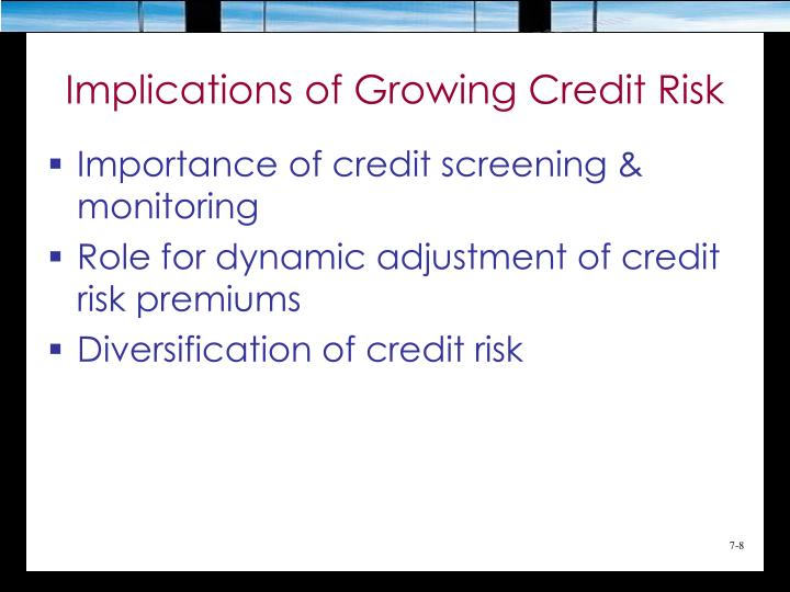 Implications of Growing Credit Risk