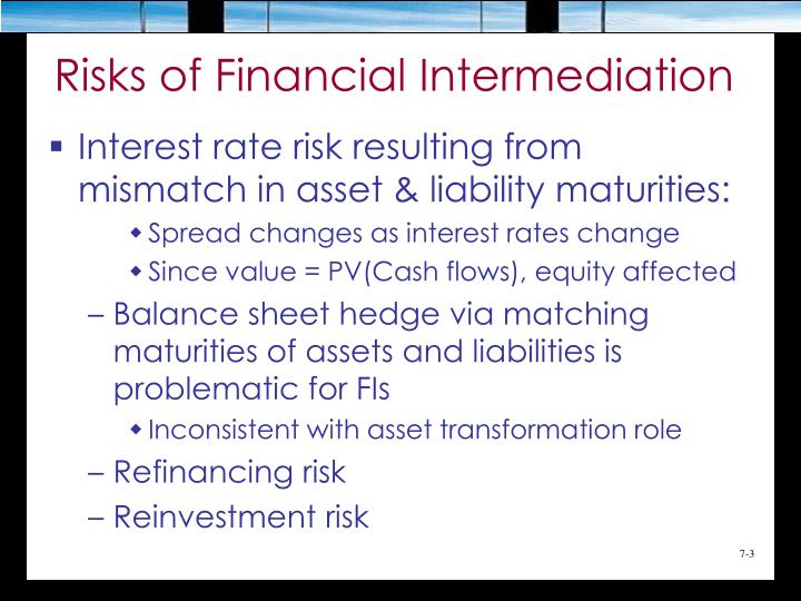 Risks of financial intermediation