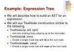 example expression tree