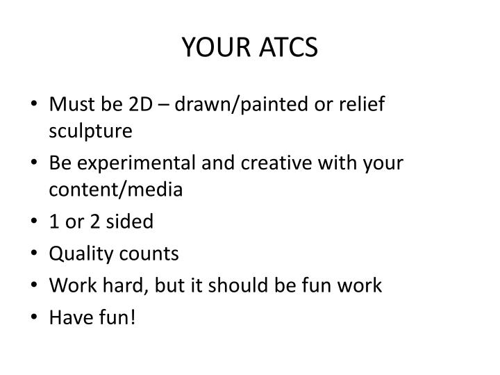 Your atcs