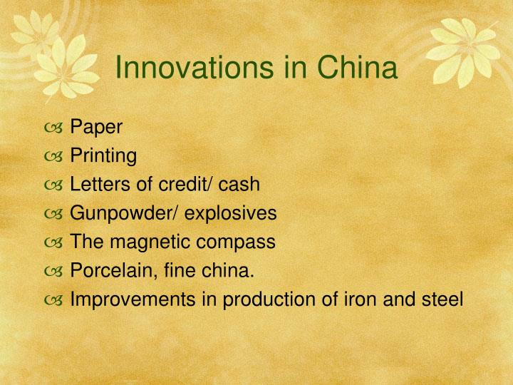 Innovations in China