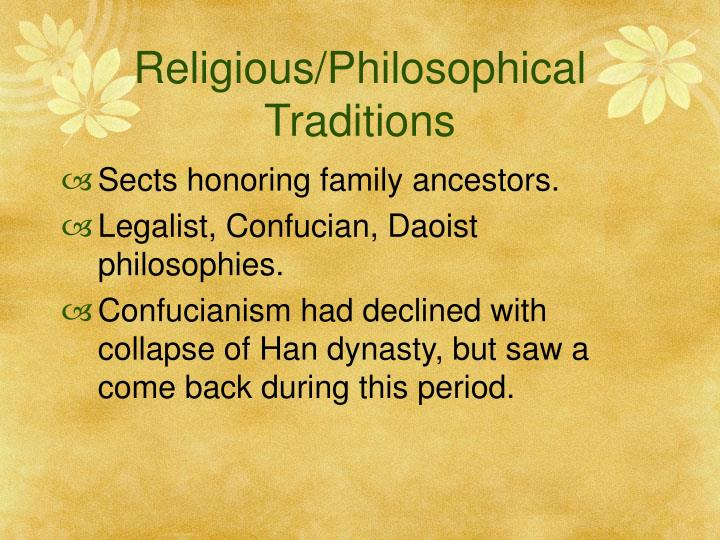Religious/Philosophical Traditions