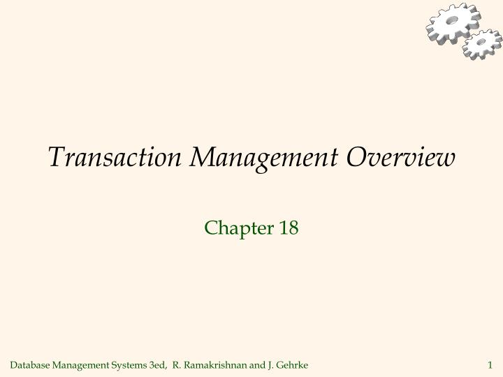 transaction management overview n.