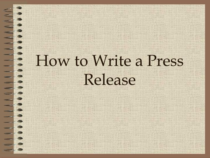 how to write a press release A good press release is one from which it's easy to write a news story, blog post, or other article a bad release makes writing harder to do.