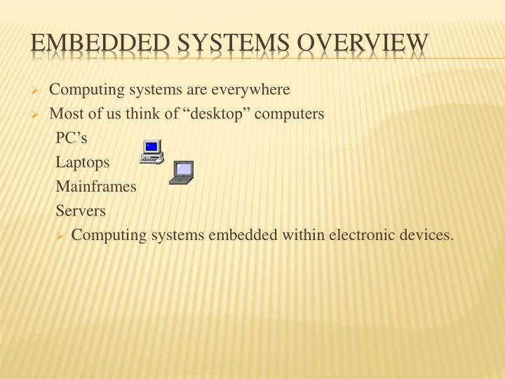 embedded systems overview n.