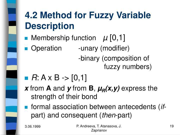 4.2 Method for Fuzzy Variable Description