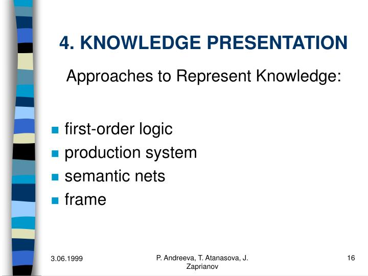 4. KNOWLEDGE PRESENTATION