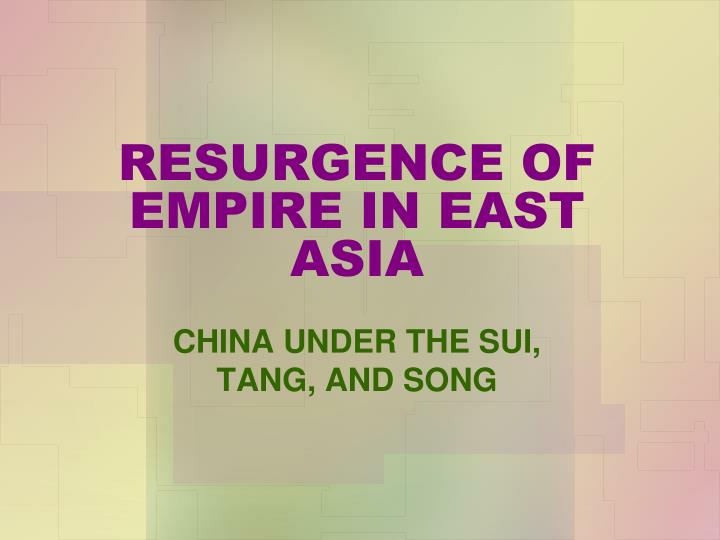 resurgence of empire in east asia n.
