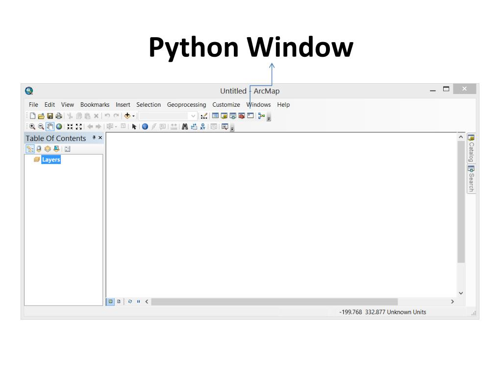 PPT - Python and ArcMap PowerPoint Presentation - ID:5319888