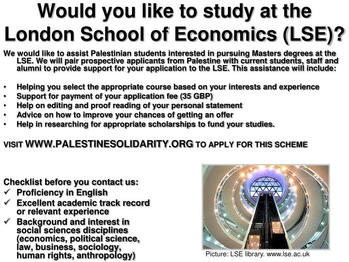 PPT - Would you like to study at the London School of