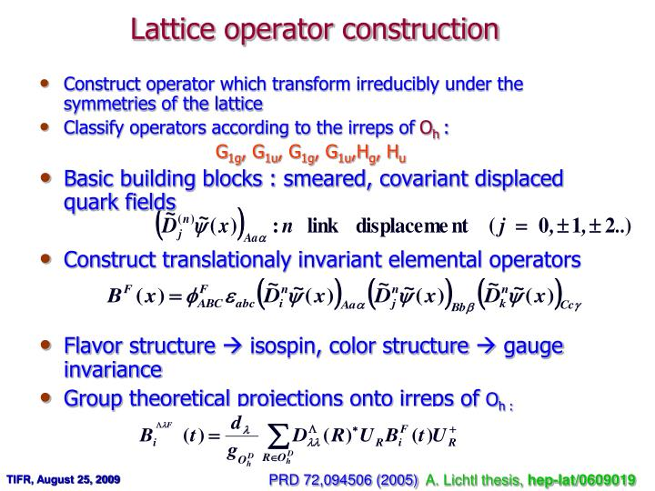 Lattice operator construction