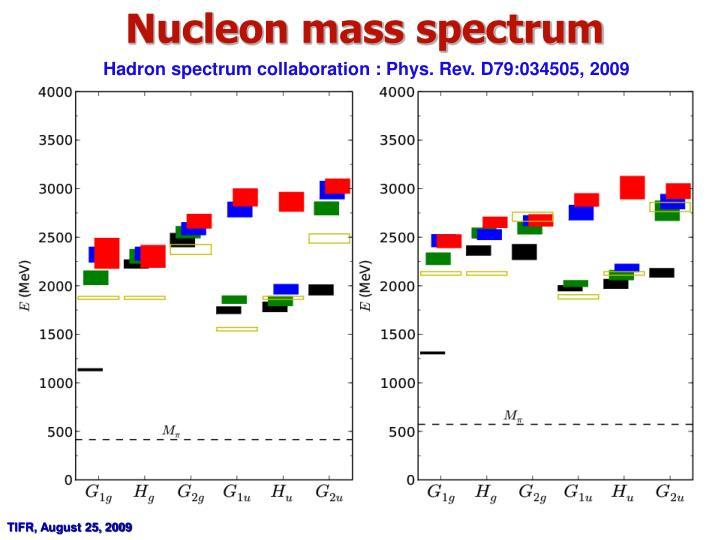 Nucleon mass spectrum