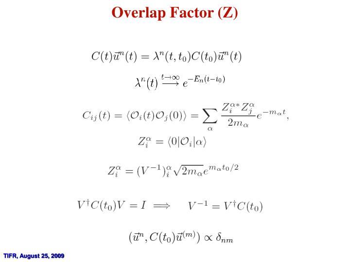 Overlap Factor (Z)