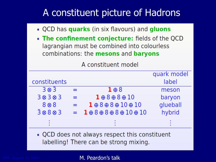 A constituent picture of Hadrons
