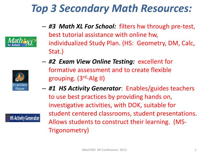 top 3 secondary math resources math n.