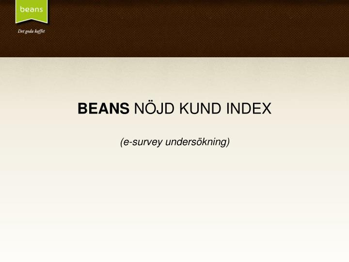 beans n jd kund index e survey unders kning