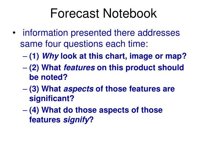 Forecast Notebook
