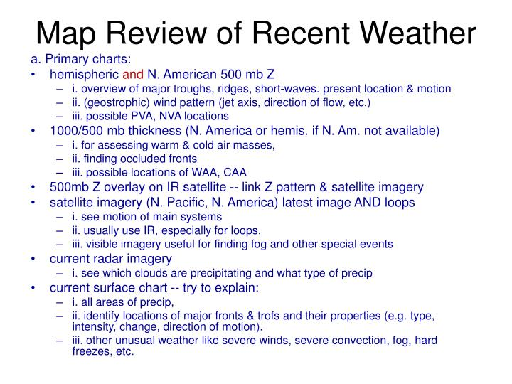 Map Review of Recent Weather