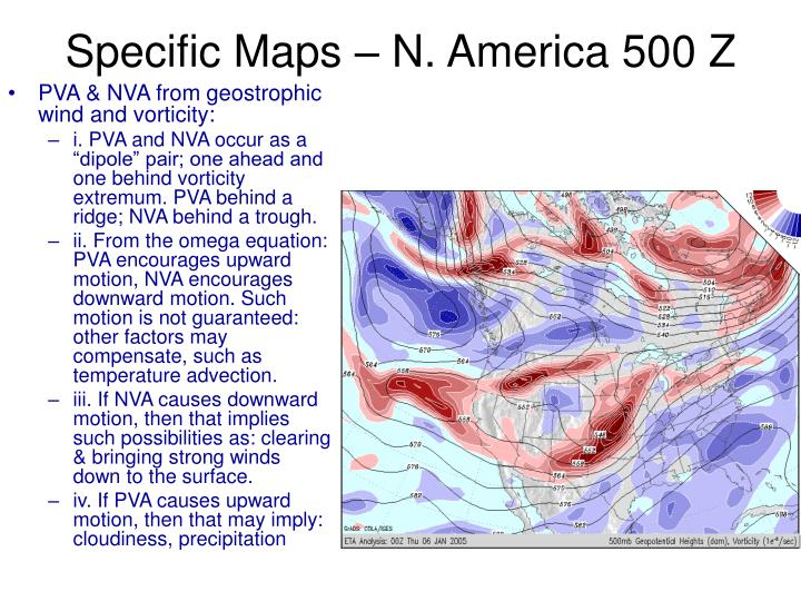 Specific Maps – N. America 500 Z