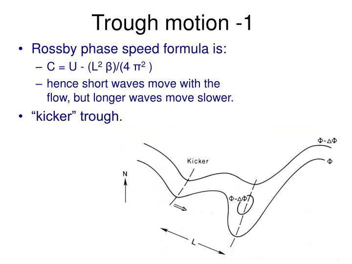 Trough motion -1
