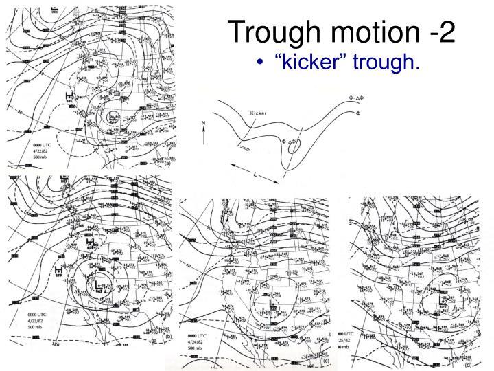 Trough motion -2