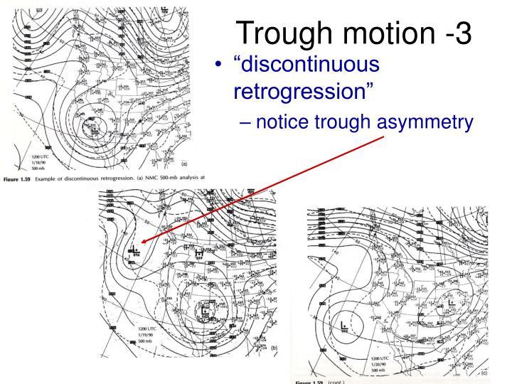 Trough motion -3