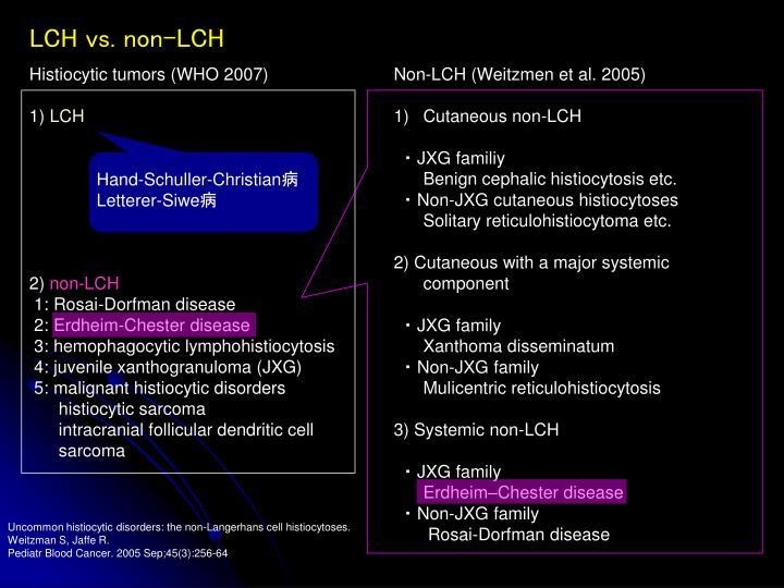 Non-LCH (Weitzmen et al. 2005)