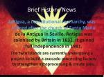 brief history news