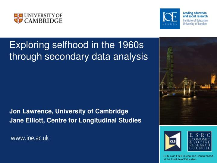 exploring selfhood in the 1960s through secondary data analysis n.