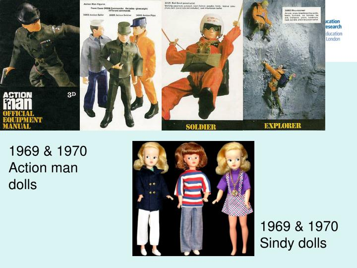 1969 & 1970 Action man dolls