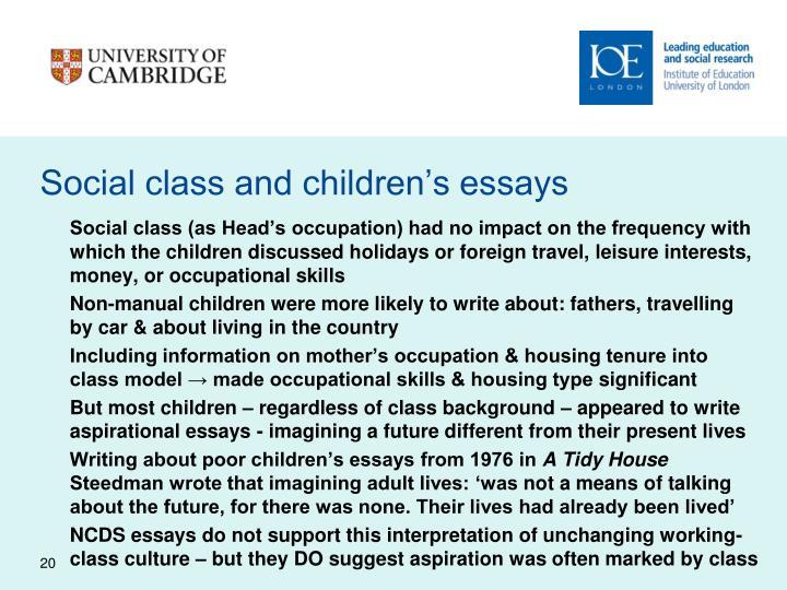 Social class and children's essays