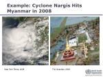 example cyclone nargis hits myanmar in 2008