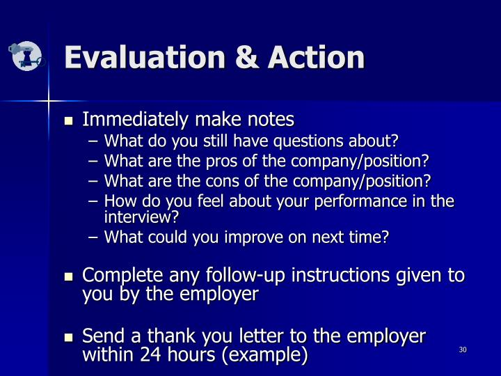 Evaluation & Action