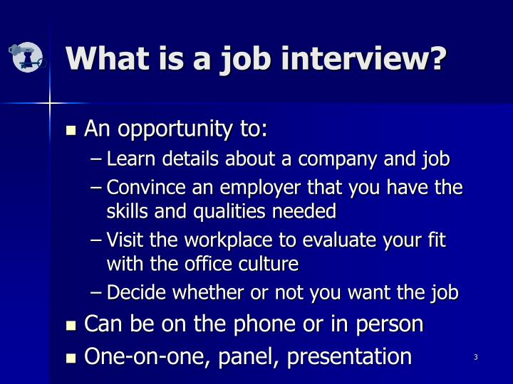 What is a job interview
