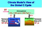 climate model s view of the global c cycle