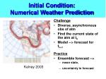 initial condition numerical weather prediction
