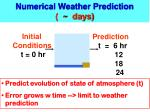 numerical weather prediction days