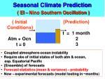 seasonal climate prediction el nino southern oscillation