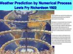 weather prediction by numerical process lewis fry richardson 1922