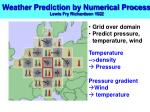 weather prediction by numerical process lewis fry richardson 19221