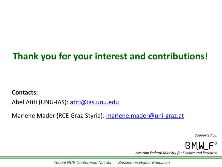 Thank you for your interest and contributions!