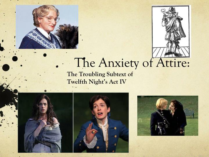 the anxiety of attire n.