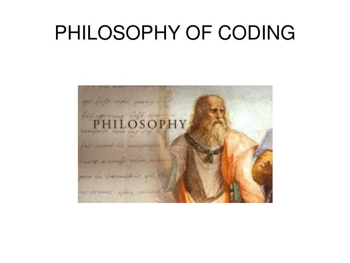 philosophy of coding n.