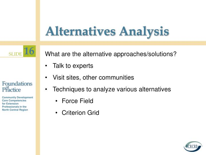 Alternatives Analysis