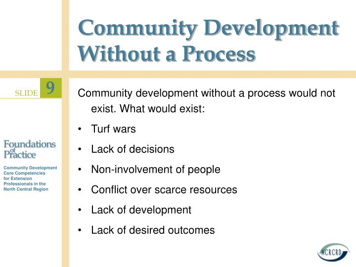 Community Development Without a Process
