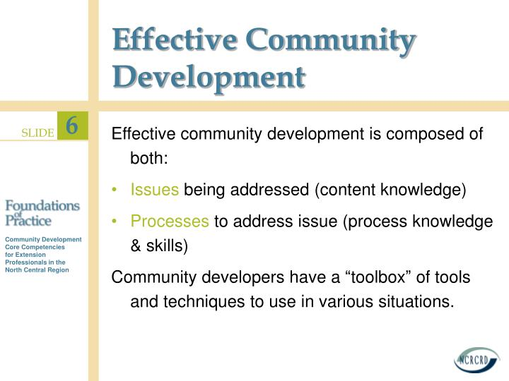 Effective Community Development