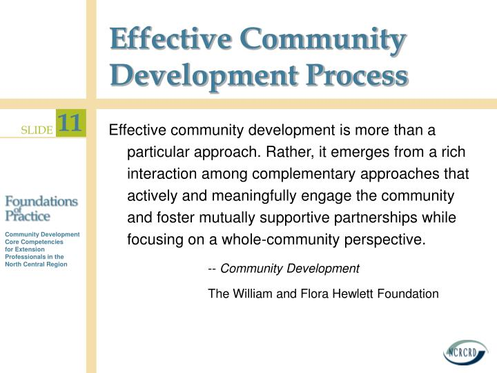 Effective Community Development Process