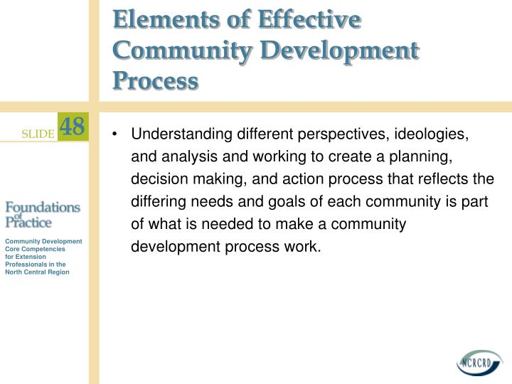 Elements of Effective Community Development Process