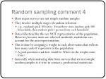 random sampling comment 4
