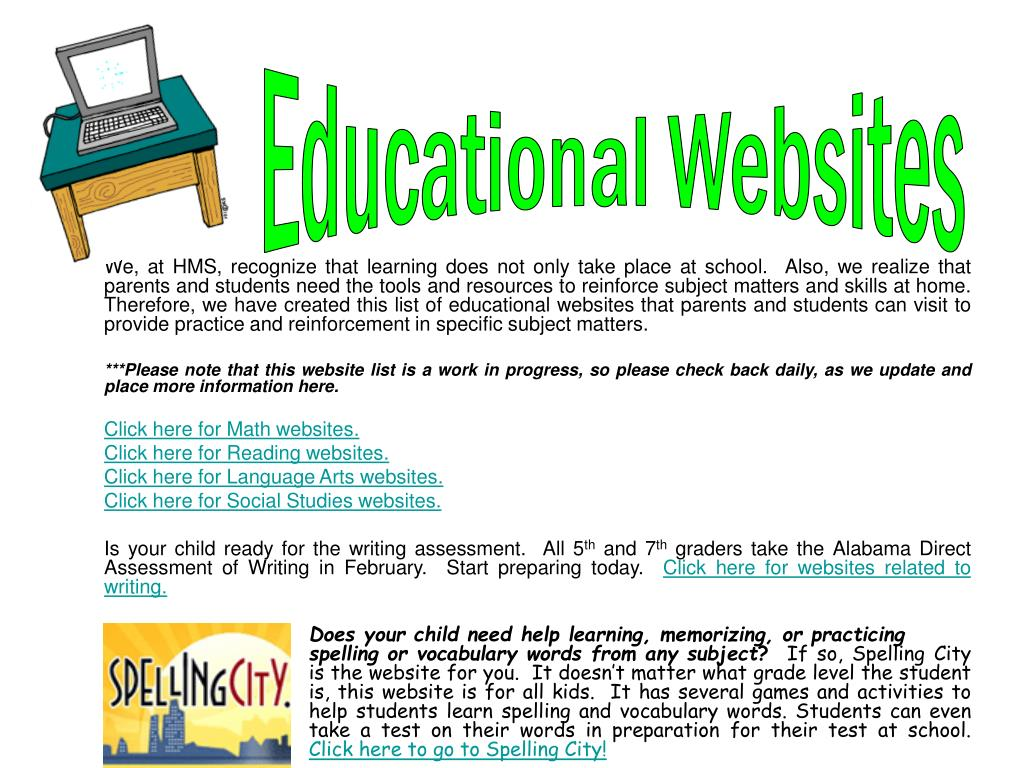 learning websites for 7th graders